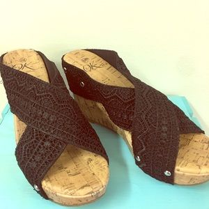 Its OK Wedge Sandals Size 8m
